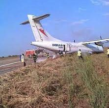 Photo of Damaged Air Peace plane evacuated from Ilorin Airport's runway