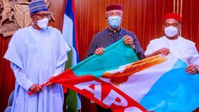 Photo of Anambra Deputy Gov, Okeke, defects to APC, meets Buhari